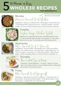 whole30 meal plan image