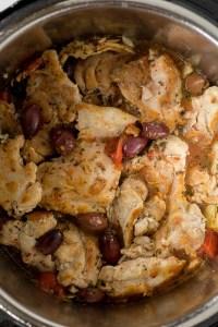 uncooked greek chicken in instant pot