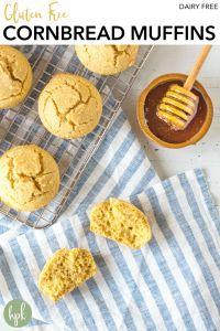 pin for gluten free cornbread muffins
