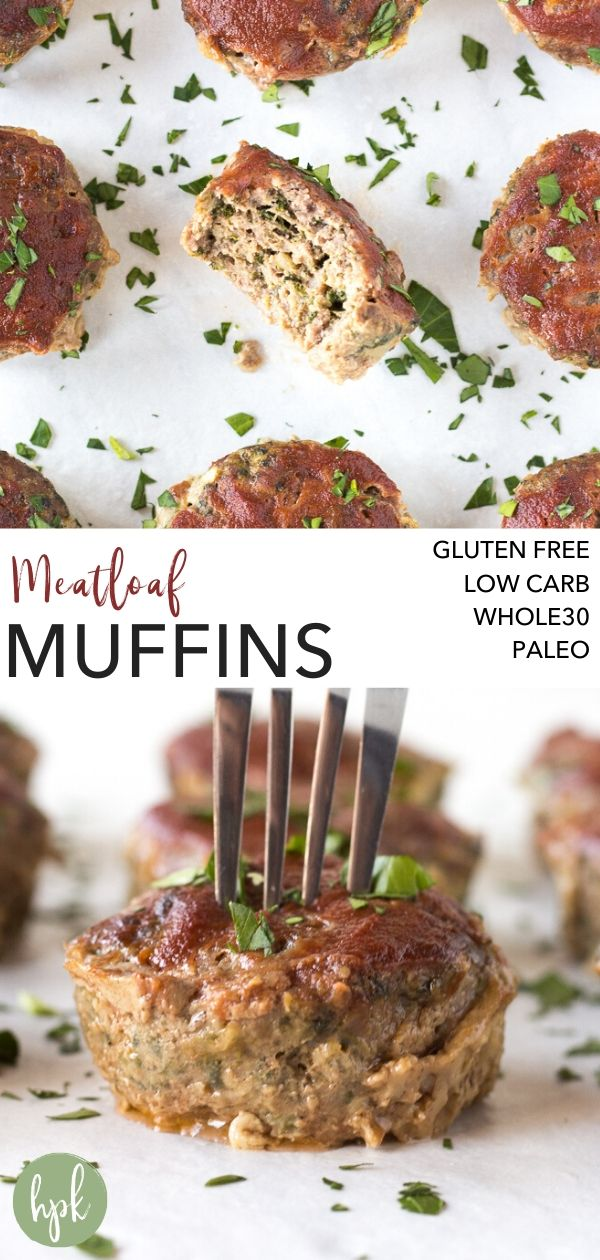 pin for paleo meatloaf muffins