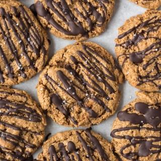 top down shot of paleo almond flour cookies