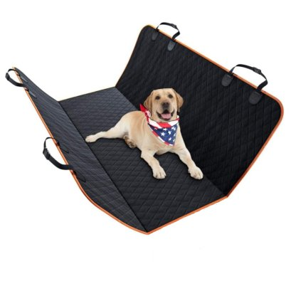 100% Waterproof Pet Seat Cover Car Seat Cover for Cars Trucks and SUVs Black and Orange Color