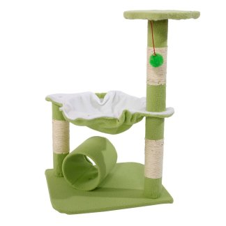 "28"" Cute Sisal Stable Cat Tower,  Green"