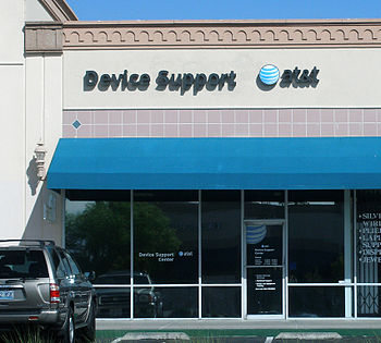 An AT&T Mobility Device Support Center in Las ...