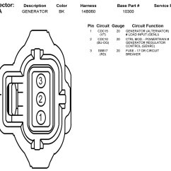 Denso Alternator 3 Pin Plug Wiring Diagram Blank Skeletal 2006 Mazda Fusion