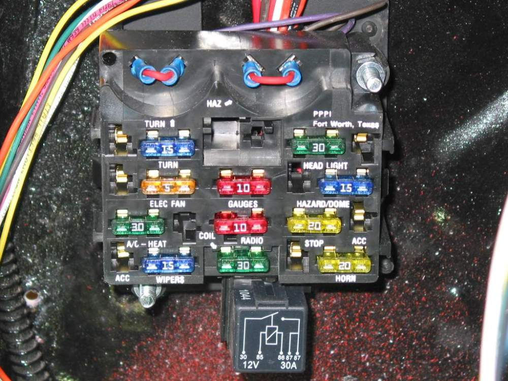medium resolution of since the kit is designed to be a stand alone unit and not use the flashers in the fuse block small jumpers were made and installed into the flasher ports