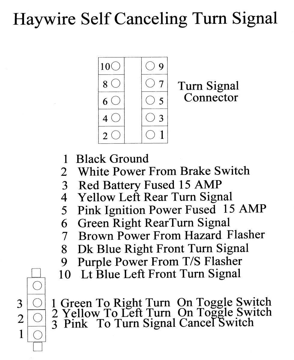 hight resolution of instructions included with the system show where each wire is to connect to in the large connector and the small toggle switch connector