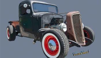 Chevy Rat Rod Pickup 1936 Saw This Rod's Birth