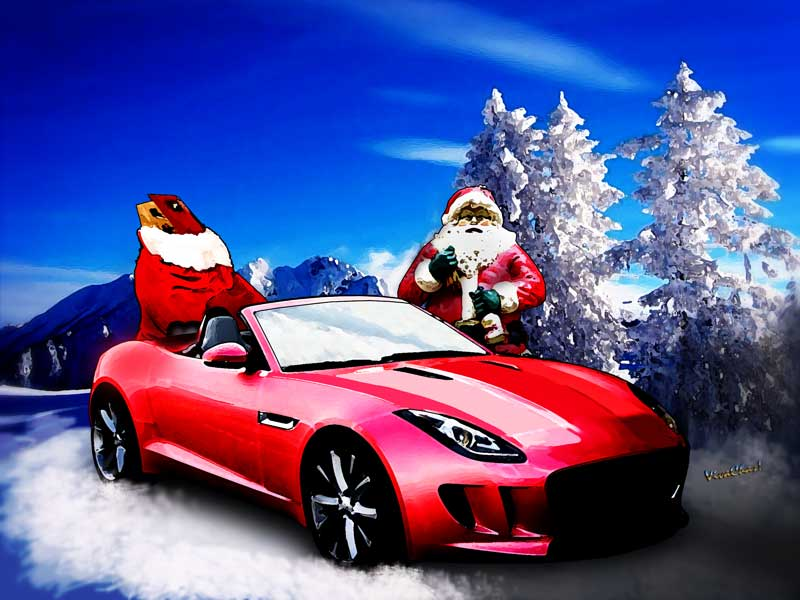 Jaguar F Type Santas Secret Sleigh Revealed