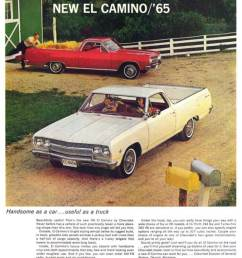 1965 chevy el camino 2nd generation print brochure ad from the nice folks at [ 800 x 1010 Pixel ]