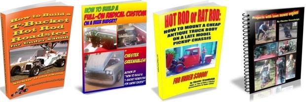 4 how to build custom cars and hot rod eBooks