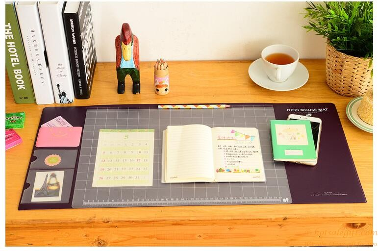Wallpaper Cute Light Pink Desk Pad Large Multifunctional Mat Pvc Waterproof Pad