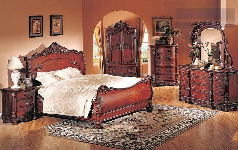 Formal Furniture Queen 4pc Bedroom Set Cherry Hot Sectionals