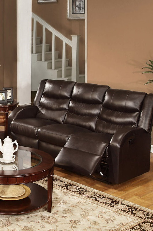 bonded leather reclining sofa set outdoor sofas on sale poundex #f6654   hot sectionals