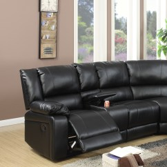 Home Theater Reclining Sectional Sofa Cheap Beds Next Day Delivery Black Leather Console Poundex #f6745   Hot ...