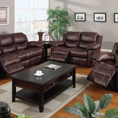 Motion Sofa Set Turn Any Into A Bed Leather Reclining 3pc Poundex F7067 Hot Sectionals