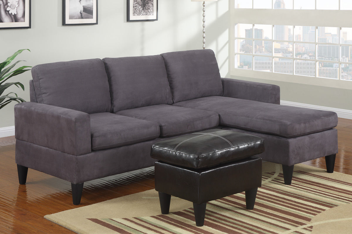 Sectional Espresso Free Ottoman Poundex Hot Sectionals