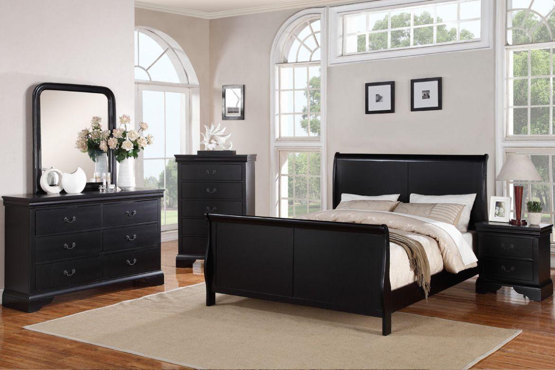 Modern Dark Espresso 4Pc Queen Bedroom Set #F9230Q