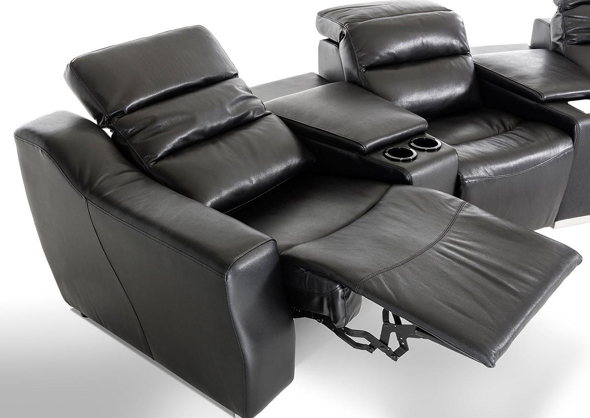 VIG Furniture Black Reclining Sectional VGKNE9020  Hot Sectionals