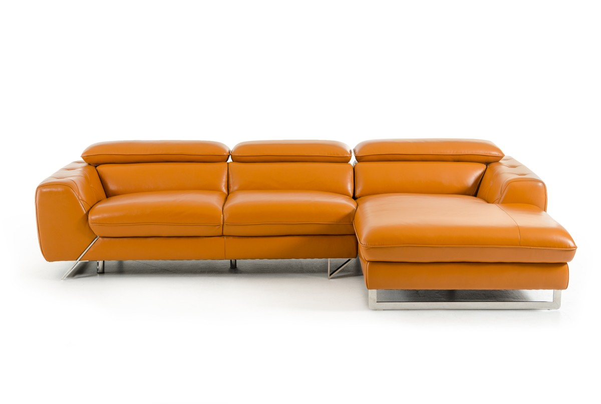 Modern Leather Sectional Sofa Chaise Vig Furniture Vgziwa