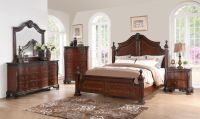 Western King Size Bed 1pc Traditional Look Elegance Wooden ...