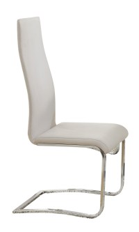 Mid-Century Modern Dining Faux Leather White Dining Chairs ...