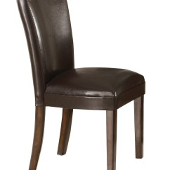 Dining End Chairs Wheelchair Knee Coaster Upholstered Durable Brown Faux Leather Parsons