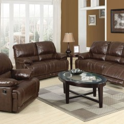 Bonded Leather Reclining Sofa Set Moroni Colton Match Loveseat Chair 3pc