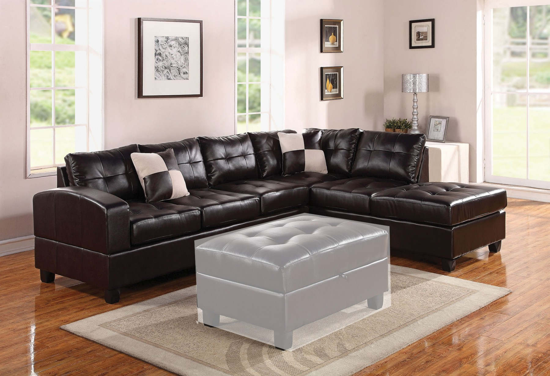 espresso bonded leather reclining sofa loveseat set deep dimensions living room sectional contemporary