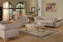 2pc sofa set beige fabric traditional