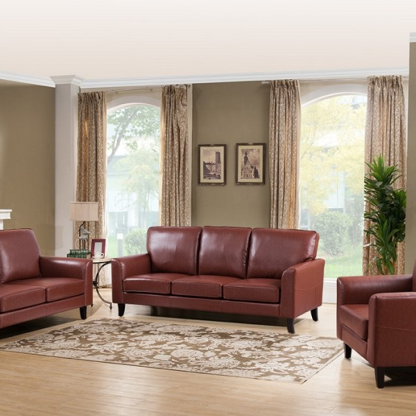 Sofa Love-Seat & Chair Modern Brown Living Room Home Furniture 3pc Sofa Set