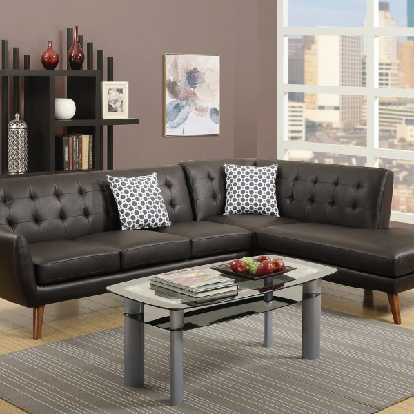 Sectional Leather Sofa Chaise Tufted Couch Hot Sectionals