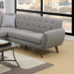 Gray Linen Tufted Sofa Sure Fit Recliner Slipcovers Sectional Loveseat Wedge Couch Hot Sectionals