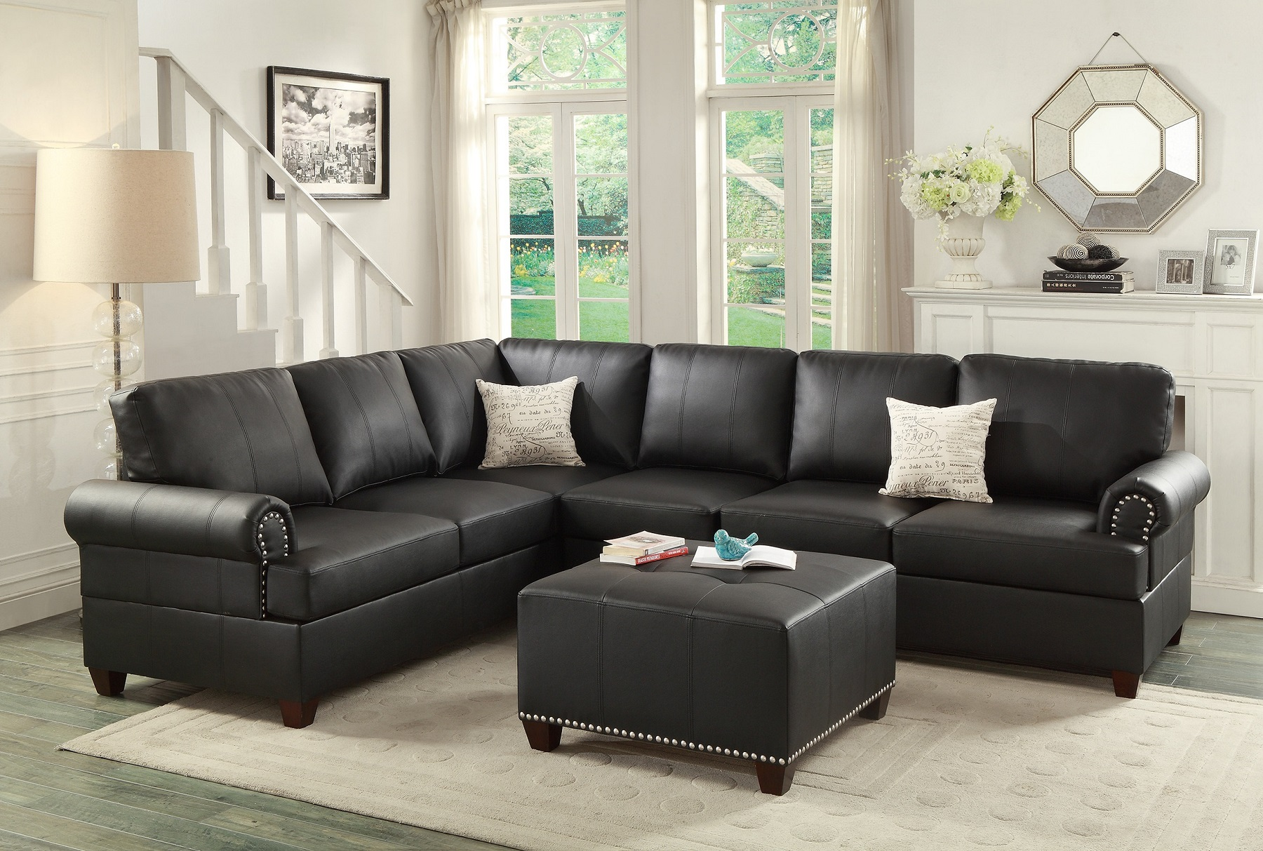 wedge table for sectional sofa upholstery cleaning dubai black leather loveseat hot sectionals