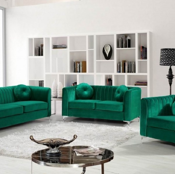 3pc Green Sofa Set Living Room Furniture New | Hot Sectionals