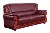 2pc Sofa Set Burgundy Traditional Living Room | Hot Sectionals