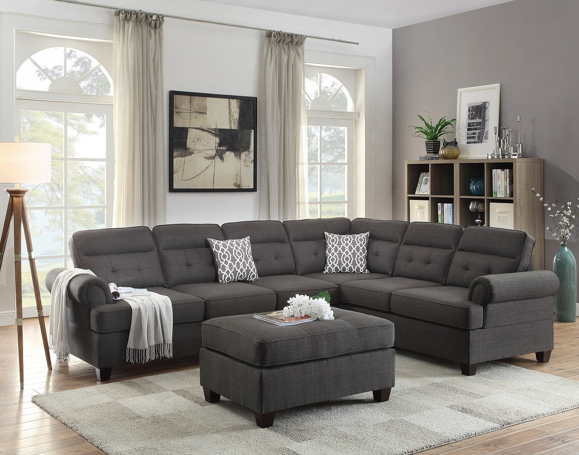 room and board sofa reviews grey pink cushions sectional black fabric loveseat wedge hot sectionals
