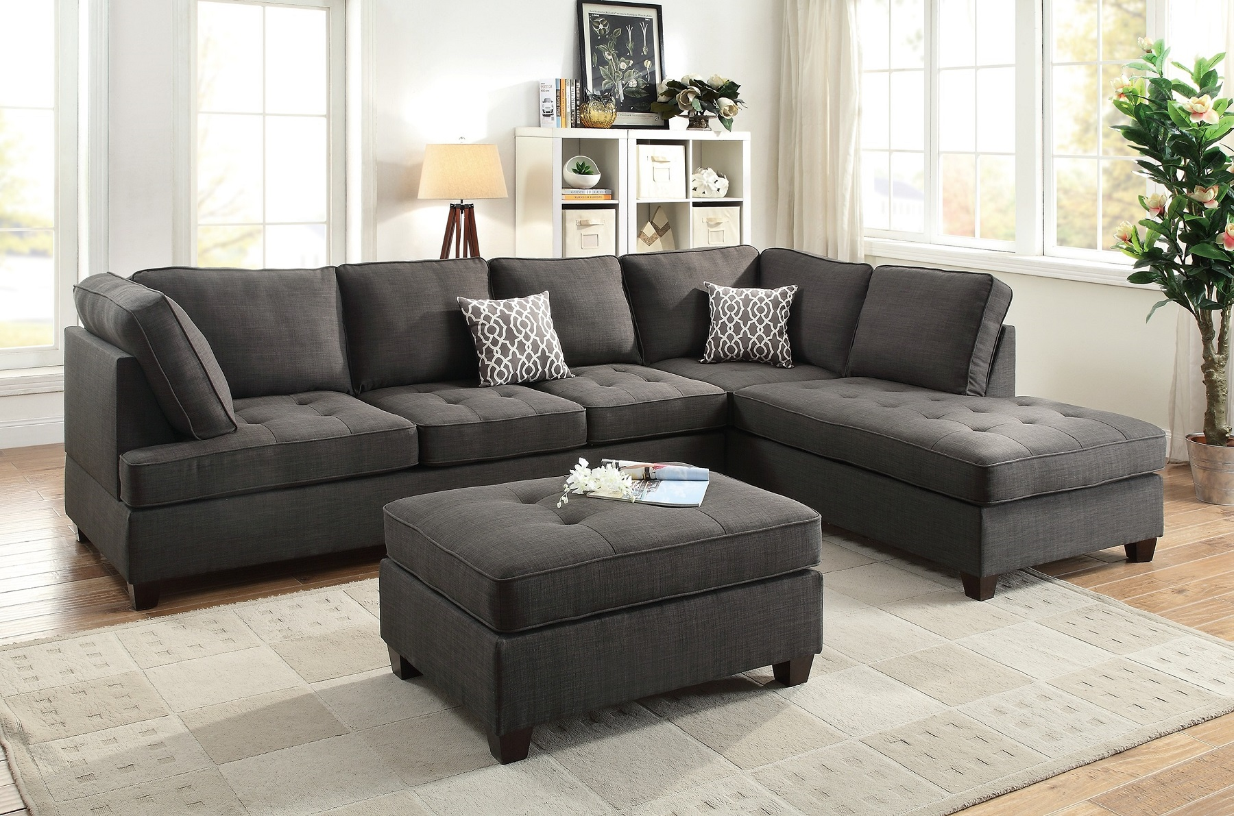room and board sofa reviews crushed velvet corner bed black sectional chaise poundex f6988 hot sectionals