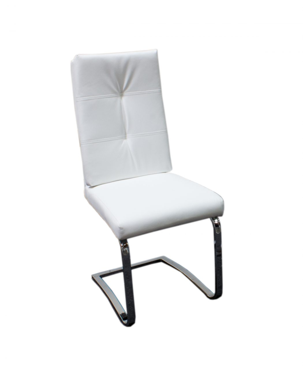 contemporary leather dining chairs comfortable accent 4pc white finish set faux hot sectionals