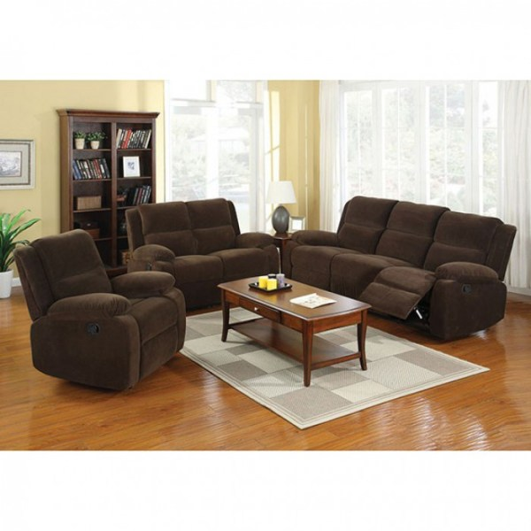 Tremendous Transitional Living Room 3Pc Sofa Loveseat Recliner Dark Brown Flannelette Fabric Camellatalisay Diy Chair Ideas Camellatalisaycom