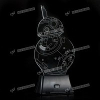 Star Wars BB8 3D Illusion Night Light 7 Color Change LED ...