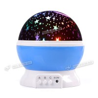 LED Rotating Star Projector Baby Night Light Kids Nursery ...