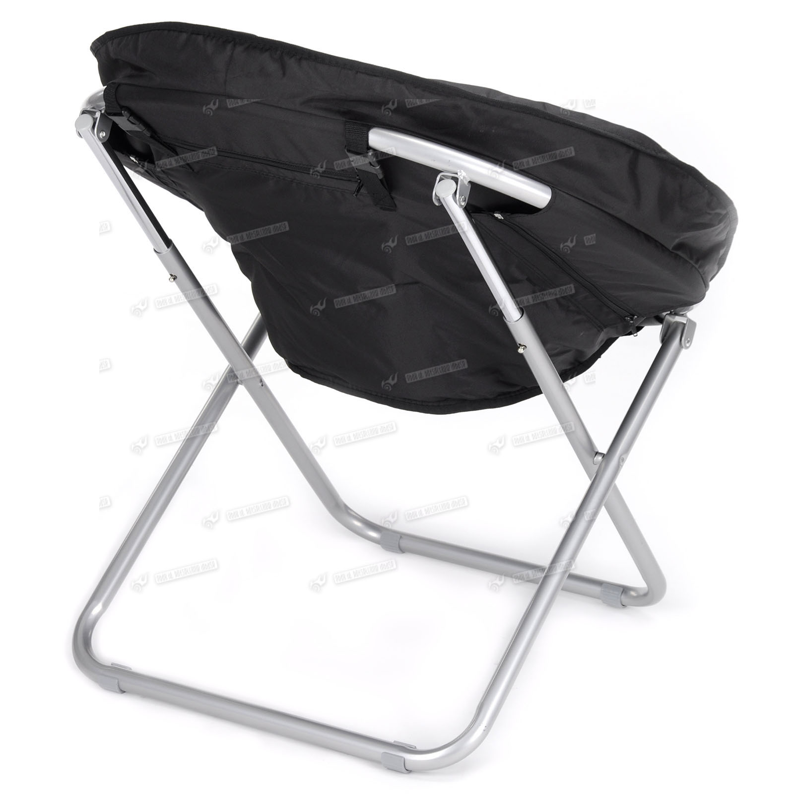 foldable cushion chair papasan metal frame large moon folding round