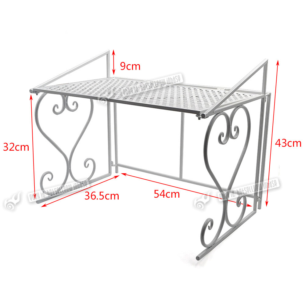 Wrought Iron Kitchen Rack Microwave Oven Stand Storage