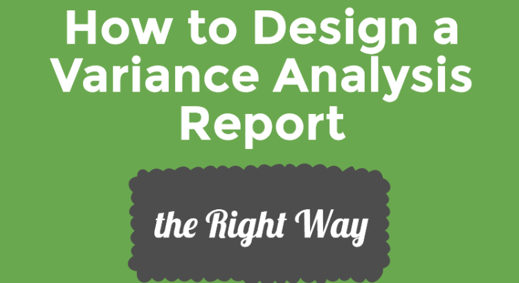 title image to article about how to design a variance report
