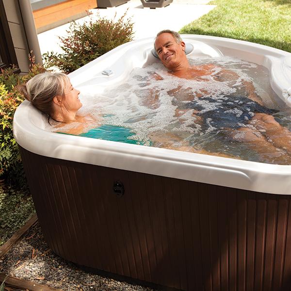 Small hot tubs for a compact garden  HotSpring Hot Tubs