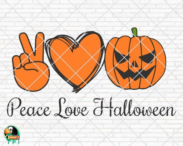 Download Peace Love Halloween SVG - HotSVG.com