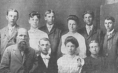 Benjamin Jacob Huddle family