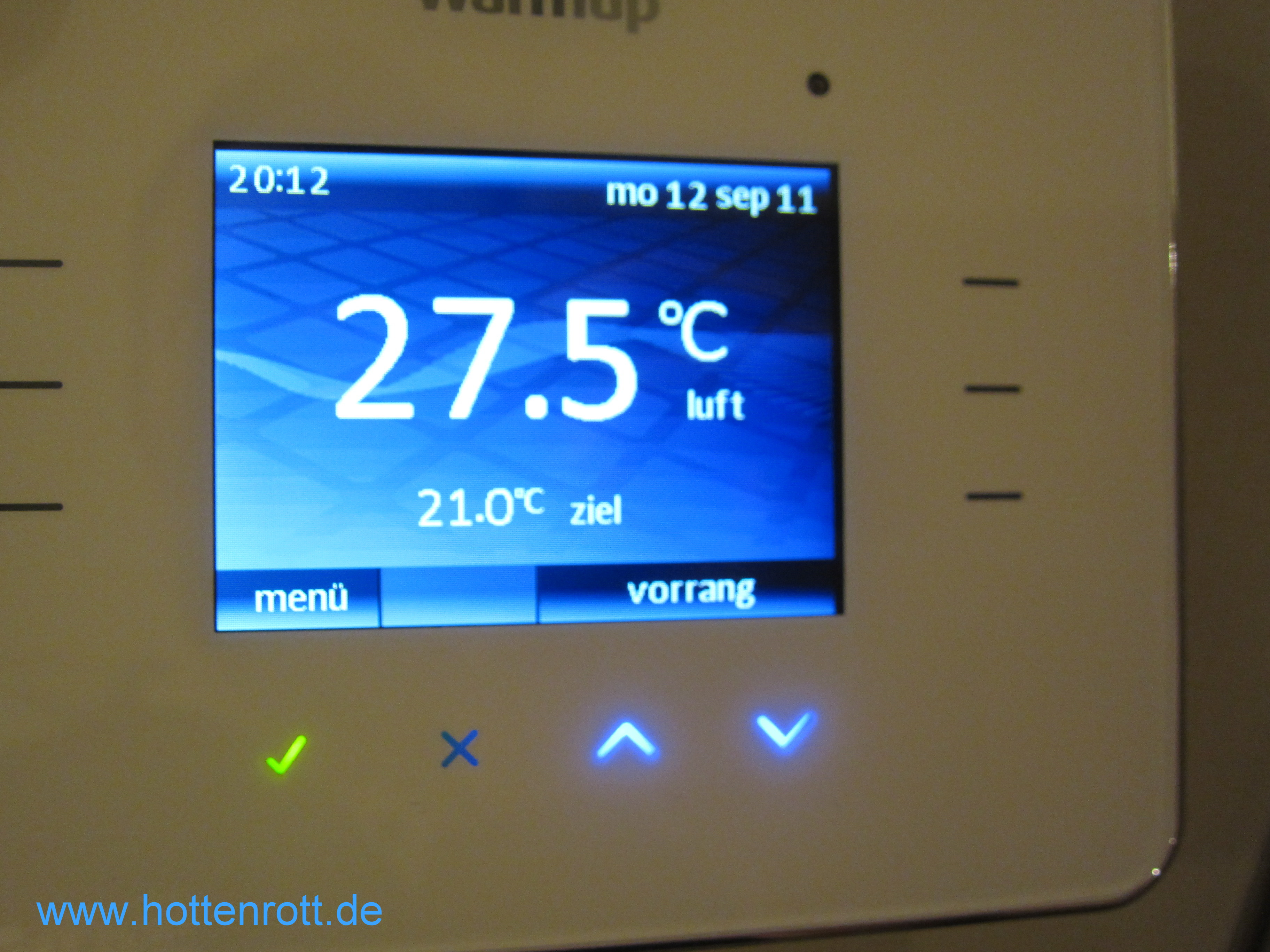 Raumtemperaturregler Thermostat 230 24 Volt touch screen