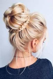 medium updo hairstyles women